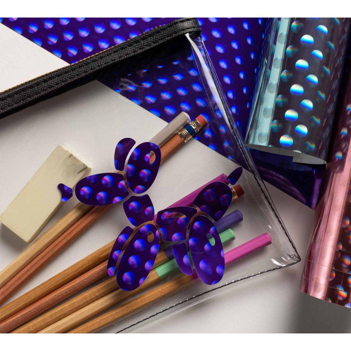 Vinyle Holographique effet bulles violet Cricut