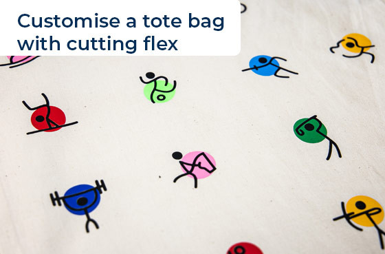 Customise a tote bag with cutting flex