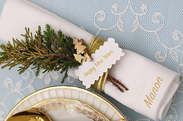 Jour de l'an : surprenez vos invités avec une table personnalisée